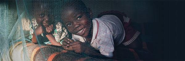 Kids under a net