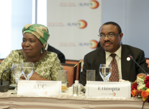 Madame Zuma and PM Hailemariam
